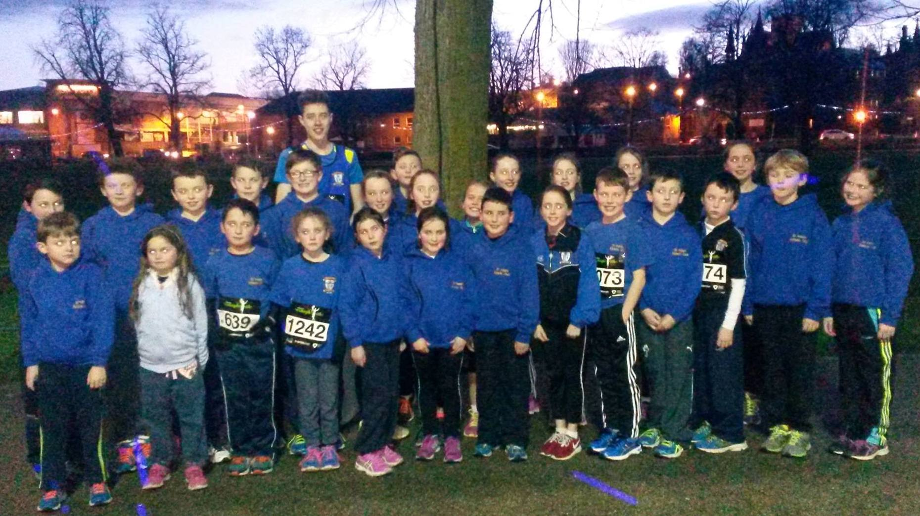 St Peter's AC athletes at Armagh International Road Races (Armagh, February 2016)
