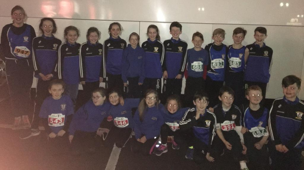 St Peter's AC athletes at Armagh International Road Races (Armagh, February 2017)