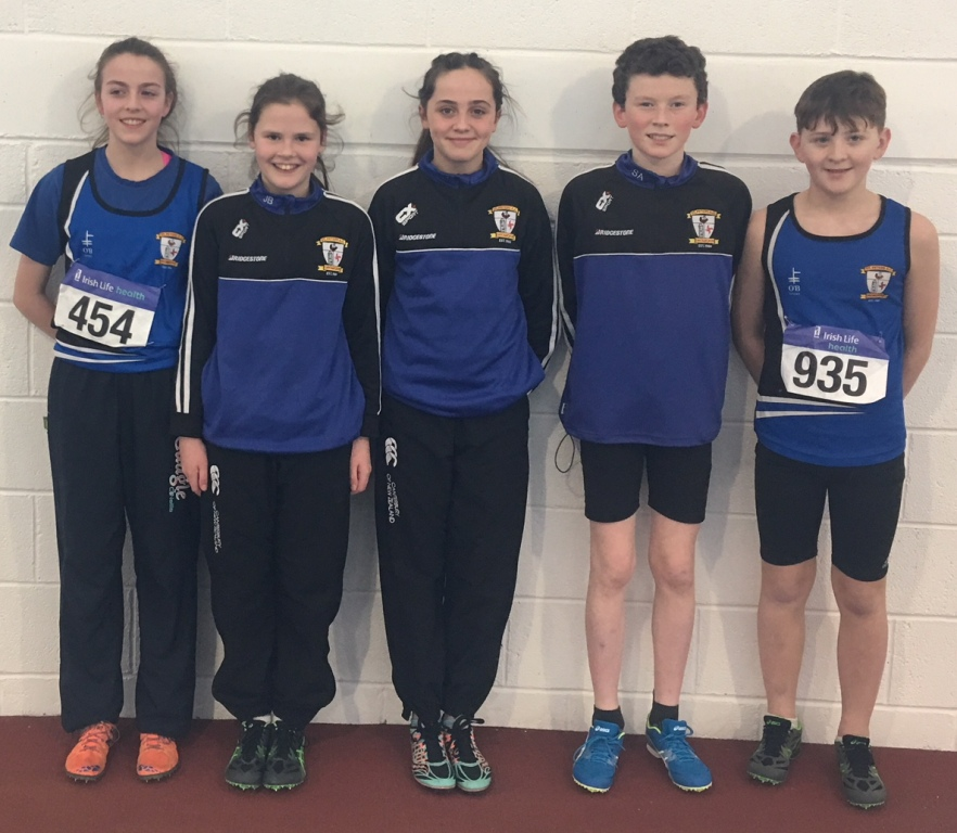 St Peter's AC athletes at Irish Indoor Combined Events' Championships (Athlone January 2018)