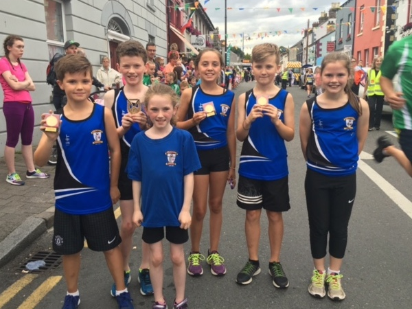 St Peter's AC athletes at Carlingford Road Races (Carlingford, August 2016)