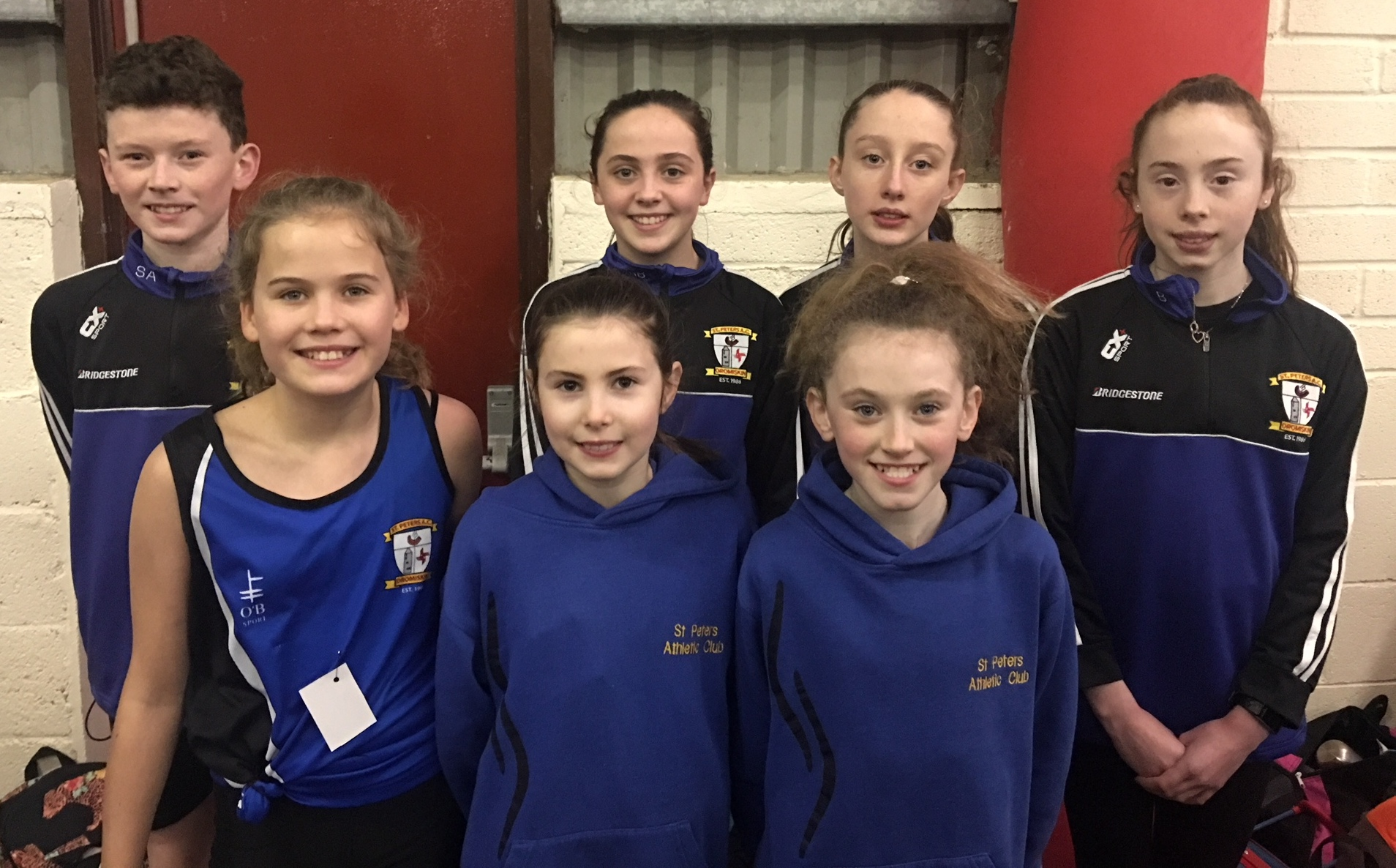St Peter's AC athletes at Cushinstown AC Indoor Meet (Cushinstown, January 2018)
