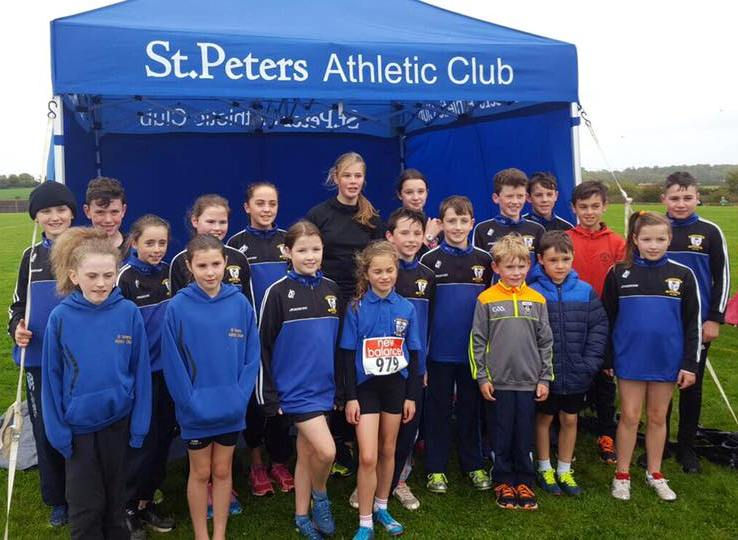 St Peter's AC athletes at Louth Cross Country Championships (Darver, October 2017)