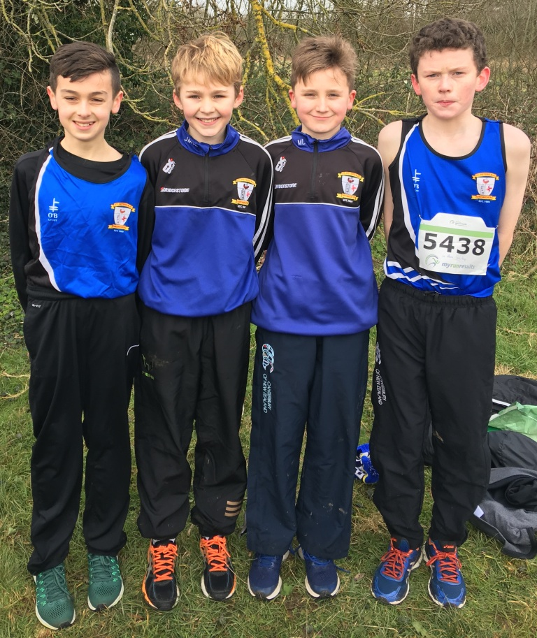 St Peter's AC athletes at Leinster Cross Country Championships (Dunboyne, January 2018)