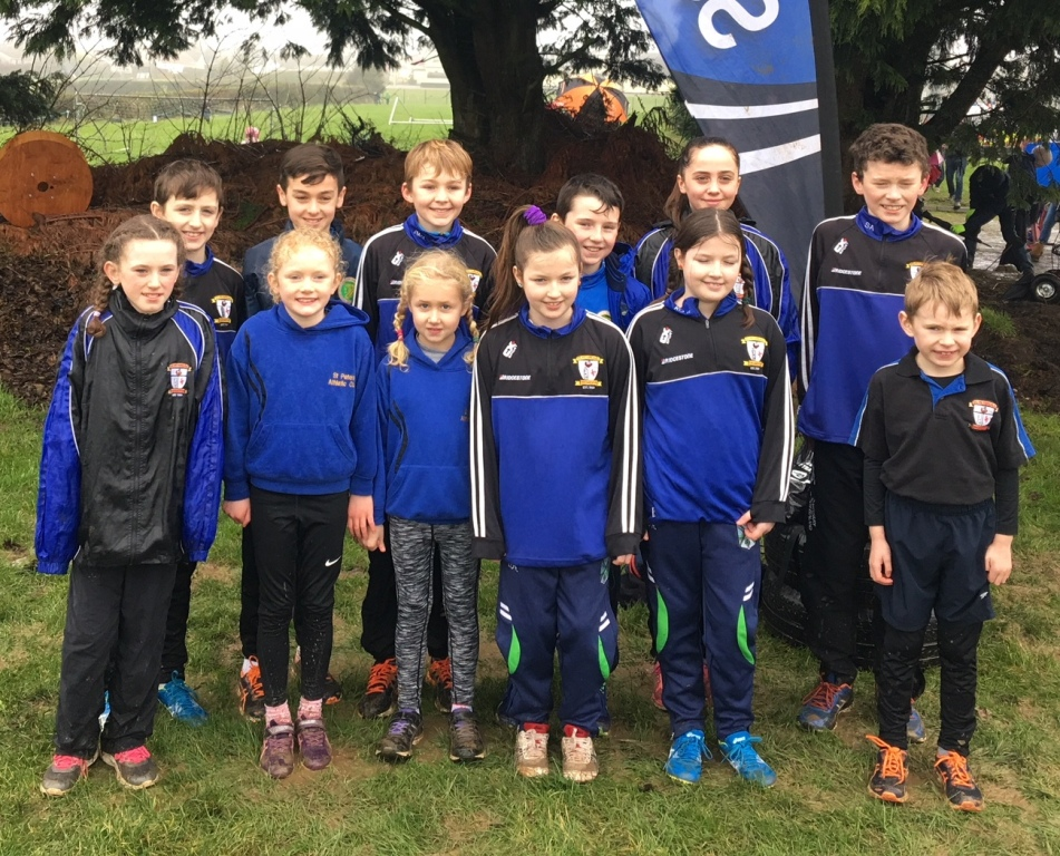 St Peter's AC athletes at Blackrock AC Cross Country (Haggardstown, January 2018)