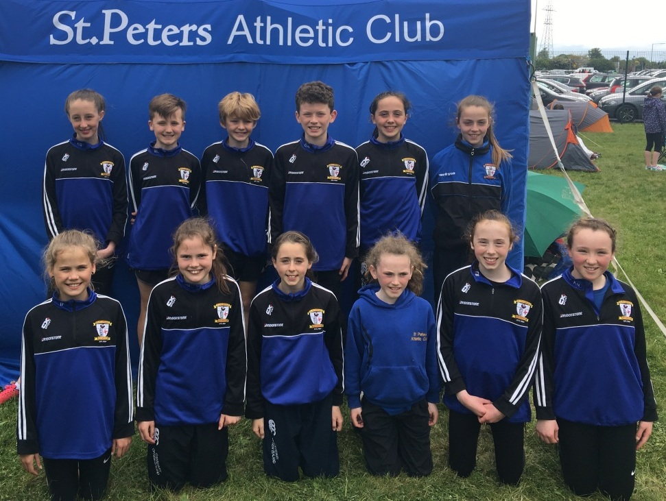 St Peter's AC athletes at Leinster Juvenile Relay Championships (Leixlip, May 2017)