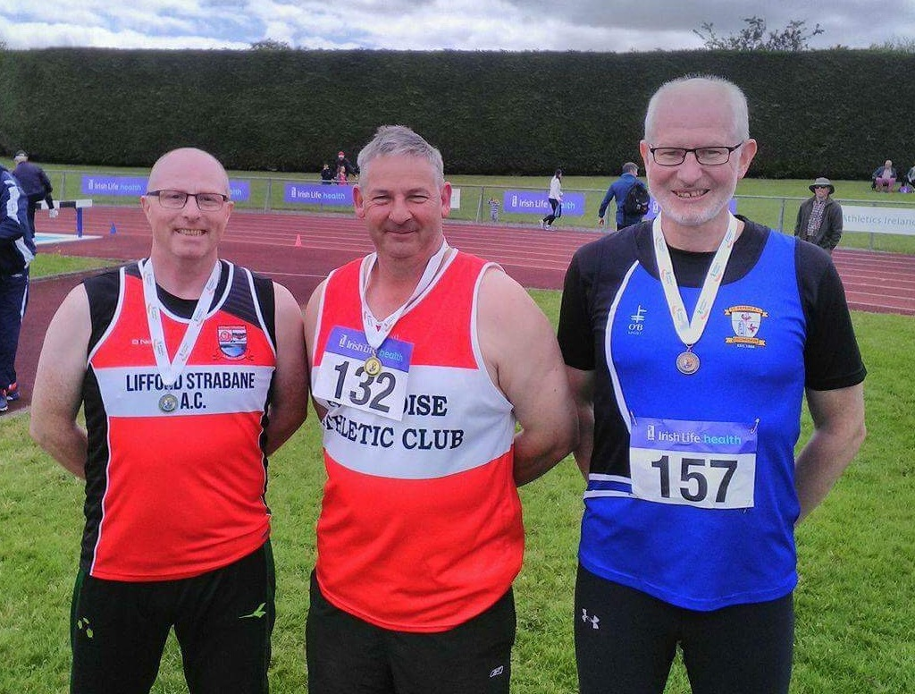 Tom McGrane (on the right) at Irish Masters' Championships (Tullamore, July 2017)