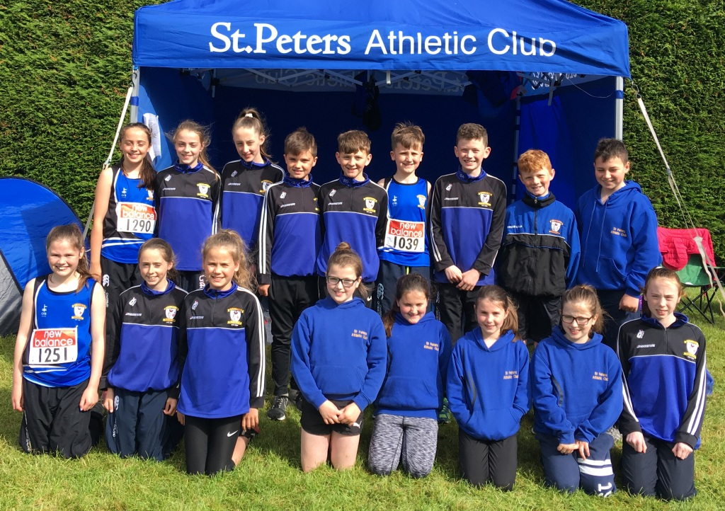 St Peter's AC athletes at Leinster Juvenile Championships (Tullamore, June 2017)